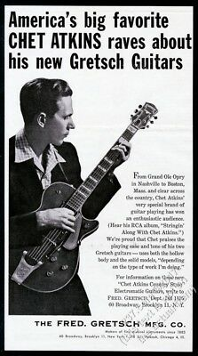 1955 Chet Atkins photo Gretsch guitar vintage print ad 2