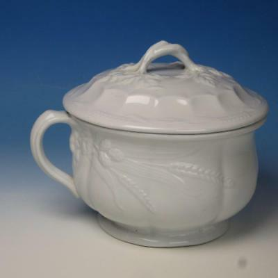 J&G Meakin White Ironstone - Wheat Pattern Chamber Pot