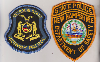 Missouri Highway Patrol & New Hampshire State Police patches,