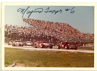 Maynard Troyer Autograph Orig 1970s 5x3.5 Photo NASCAR Modified 4526
