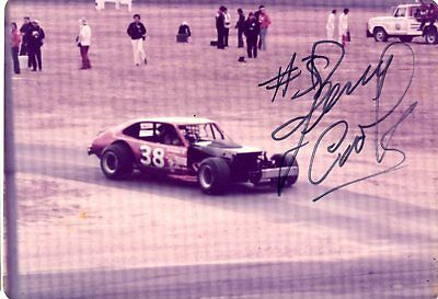 Jerry Cook Autograph Orig 1970s 5x3.5 Photo NASCAR Modified 4540