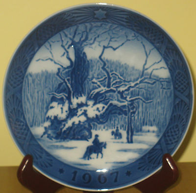 Royal Copenhagen Collector Plate 1967 The Royal Oak! Free Shipping In Usa/canada
