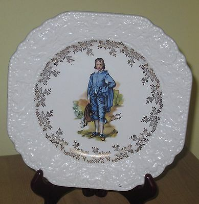 Elijah Cotton 'lorn Nelson Ware' Blue Boy Display Plate And Vintage Hanger!