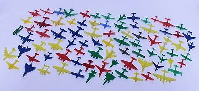Huge Lot Of 85 Vintage Cereal Premium Plastic Airplanes