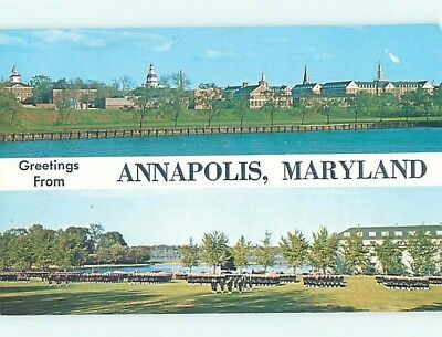 Unused Pre-1980 TWO VIEWS ON CARD Annapolis Maryland MD ho7225