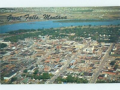 Unused Pre-1980 AERIAL VIEW Great Falls Montana MT A4209