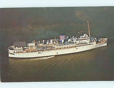 1950's postcard of NAMED IDENTIFIABLE BOAT hp8337