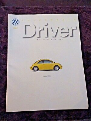 Original 1998 VW Driver VOLKSWAGEN BEETLE 'Collectors Edition' SALES BROCHURE