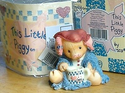ENESCO This Little Piggy Stayed Home Numbered & Registered 1994 #124532 New