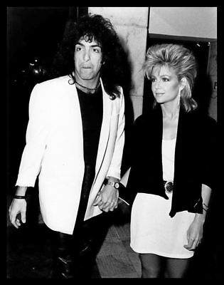 1984 LISA HARTMAN & PAUL STANLEY of KISS Vintage Original Photo KNOTS LANDING gp