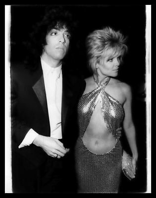 1985 LISA HARTMAN & PAUL STANLEY of KISS Bare Midriff Vintage Original Photo gp
