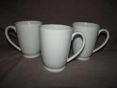 Set of 3 Pottery Barn Great White Footed Mugs