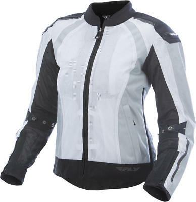Fly Racing Womens Coolpro Jacket White/Black Small