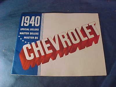 1940 CHEVROLET AUTOMOBILE Illustrated ADVERTISING BROCHURE w Color Images
