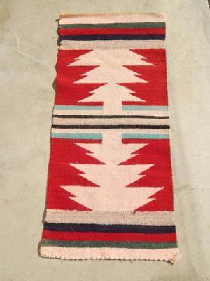 Vintage Navajo Indian Gallup Throw Rug -  Crystal Trading Post Area - A+ Colors