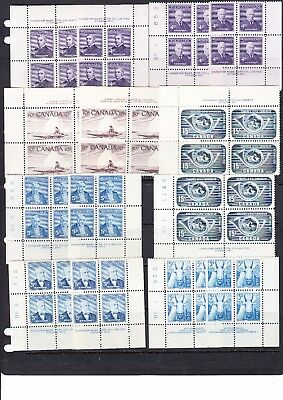 Canada - 14 Older Mint Never Hinged Plate Blocks - See Scan!