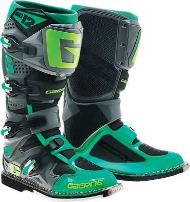 Gaerne SG-12 Motocross Boots Turquoise/Lime 10 US