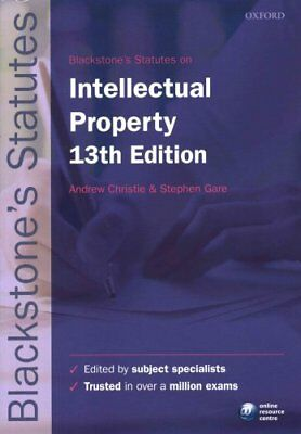 Blackstone's Statutes on Intellectual Property by Andrew Christie 9780198768388