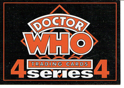 Doctor Who Cornerstone Series 4 Promotional Card D1