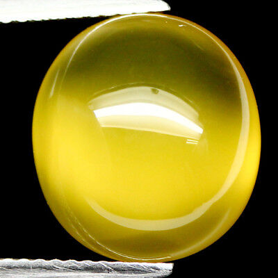 7.29 Ct Natural! Yellow Madagascar Chalcedony Oval Cabochon