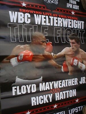Second Hand Boxing Poster Floyd Mayweather Jr Verus Ricky Hatton