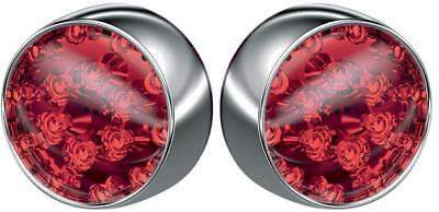 Kuryakyn LED Bullet Turn Signal Conversion Kit Rear Chrome Red #5446