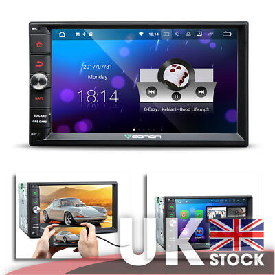 Android 7.1 HD Screen GPS Touchscreen Panel 2-Din Car Stereo Split Screen Mode
