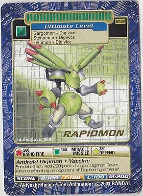 Toei Digimon Booster Series 4 Gold Stamp Rare - Bo-168 Rapidmon + 20 Bonus Cards