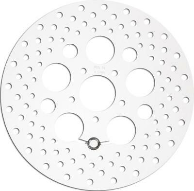 HardDrive Touring Brake Rotors 11.8 Polished Drilled Front #11-062