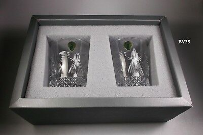 Waterford Crystal Millennium Double Old Fashioned Glass- Peace -2 New In Box