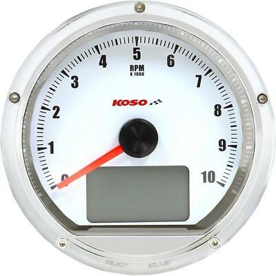 Koso T&T Tachometer/Speedometer Chrome w/ White Face