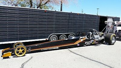 NHRA Top Alcohol Dragster Supercharged Keith Black BAE Hemi with 44' GN Trailer