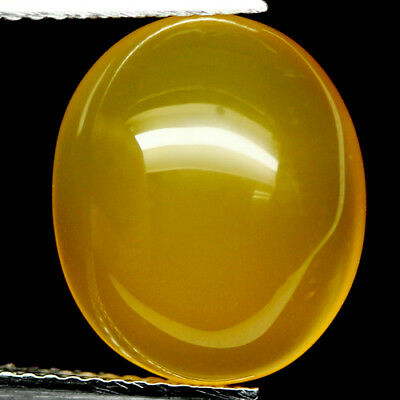 7.60 Ct Natural! Yellow Madagascar Chalcedony Oval Cabochon