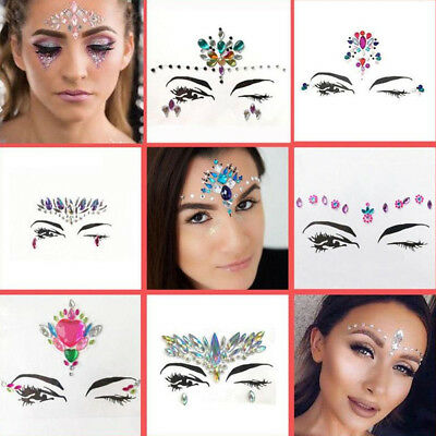 Glitter Jewel Adhesive Sticky Face Gems Weddings Party Halloween Body Make Up