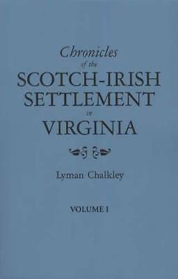 3 Vol Set Scotch Irish Settlement in Virginia Court Records 1745-Up 50,000 Names