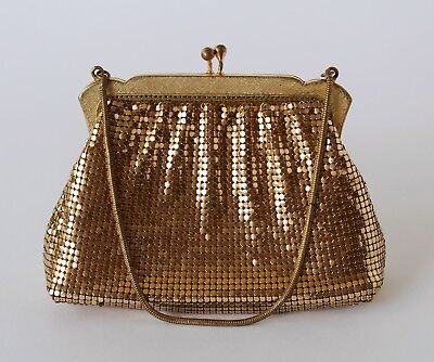 Vintage Retro 60s/70s OROTON GOLD MESH PURSE glomesh CLUTCH Evening Bag/Handbag