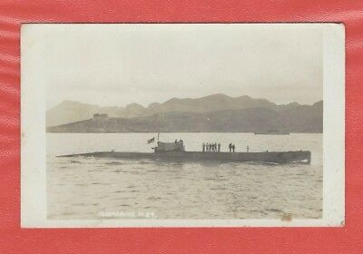 ROYAL NAVY H CLASS SUBMARINE H24 UNKNOWN LOCATION 1920's RP POSTCARD