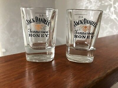 2 Jack Daniel's Tennessee Honey   Shot Glasses  Brand New