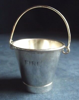 SUPERB Petite ~ SILVER Plated ~ Fire BUCKET for Toothpicks, CHILLI Sauce etc