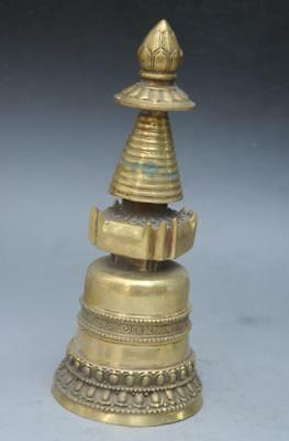 chinese old Tibet hand-carved brass Drop magic pestle bells