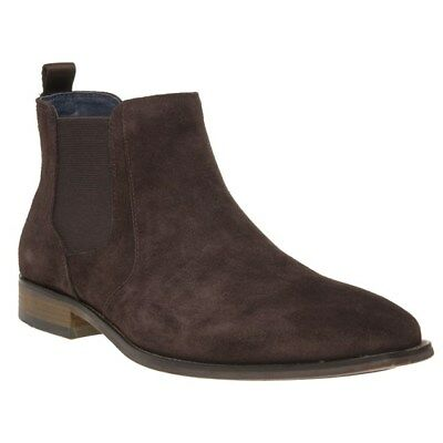 New Mens SOLE Brown Agnes Suede Boots Chelsea Elasticated Pull On