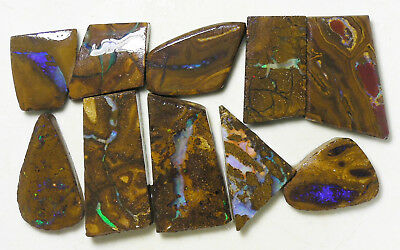 AUSTRALIAN NATURAL BOULDER OPAL 325.5c ROUGH RUB PARCEL OCA8852