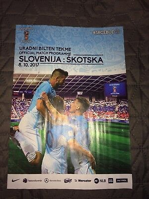 SLOVENIA v SCOTLAND World Cup Oct. '17 official programme Slovenian language