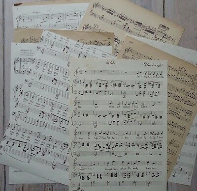 12 VINTAGE A4 music sheets. Scrapbooking, collage, wrap, lining, crafts, etc