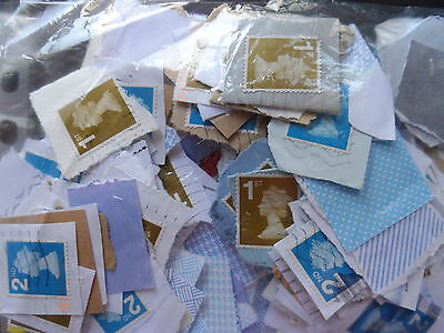 lot 7 on paper approx. 400g.b. large numbered USED 1st & 2nd class stamps