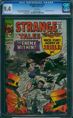 Strange Tales # 147  The Enemy Within !  CGC 9.4  scarce book!