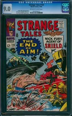 Strange Tales # 149  The End of A.I.M. !  CGC 9.0  scarce book!