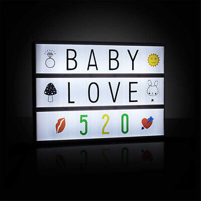 cinema 30x22 leuchteschild led box leuchtkasten buchstaben lightbox werbung eur 11 39 picclick de. Black Bedroom Furniture Sets. Home Design Ideas