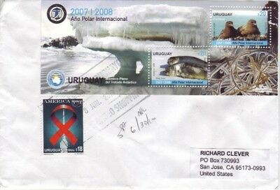 Uruguay - International Polar Year 2008 & Special Aids Issue (HI VALUE PC) 2010