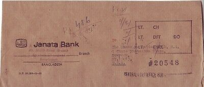 Bangladesh - Mail Cover Chittagong to New York, N.Y., USA (PC) 1985